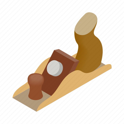 isometric, jack-plane, manual, plane, professional, tool, wood icon