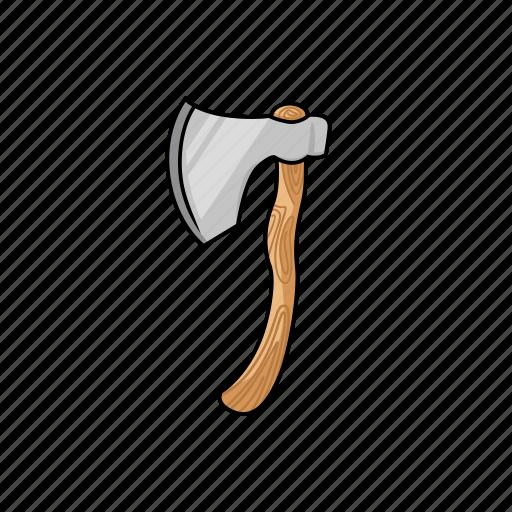 axe, cut, hatchet, illustration, lumberjack, tool, woodcutter icon