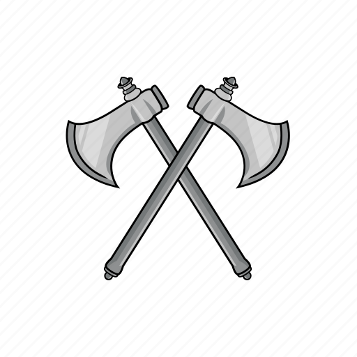 axe, cross, cross axe, lumberjack, medieval, tool, weapon icon