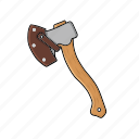 axe, hatchet, industrial, lumberjack, tool, woodcutter icon