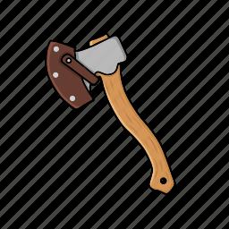 axe, hatchet, industrial, lumberjack, tool, woodcutter icon