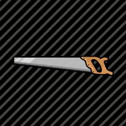 illustration, industrial, lumberjack, saw, tool, woodcutter icon