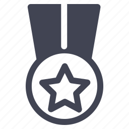 badge, luxury, medal, ribbon, star, starred icon