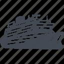 luxury, motor ship, cruise, vessel icon