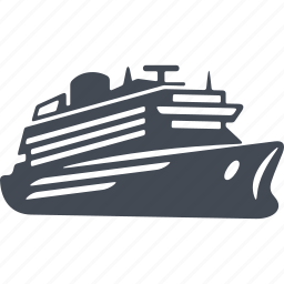 cruise, luxury, motor ship, vessel icon