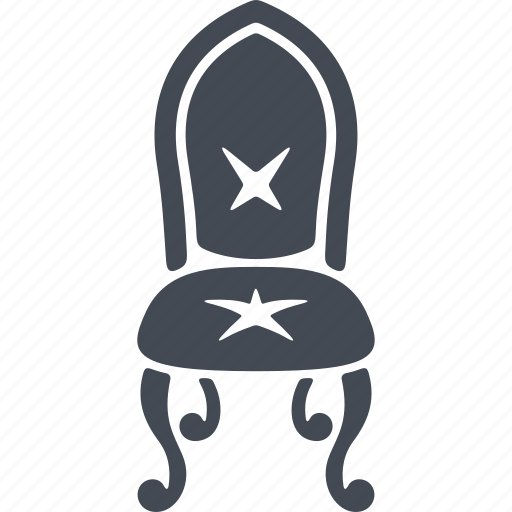 chair, interior, luxury, piece of furniture icon