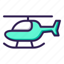 aircraft, helicopter icon