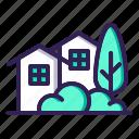 house, neighbourhood, cabin