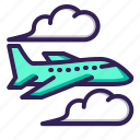 airplane, flight, jet icon