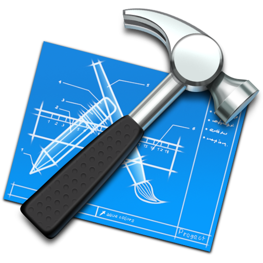 blueprint, build, develop, developing, development, hammer, tool, xcode icon