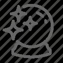 ball, future, glass, magic, star, witchcraft icon