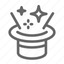 focus, hat, magic, magician, star, trick, witchcraft icon
