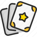 card, magic, show, star, taro, wish icon
