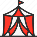 circus, magic, marquee, show, tent icon