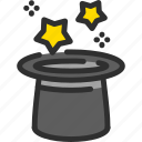 cylinder, hat, magic, show, star icon