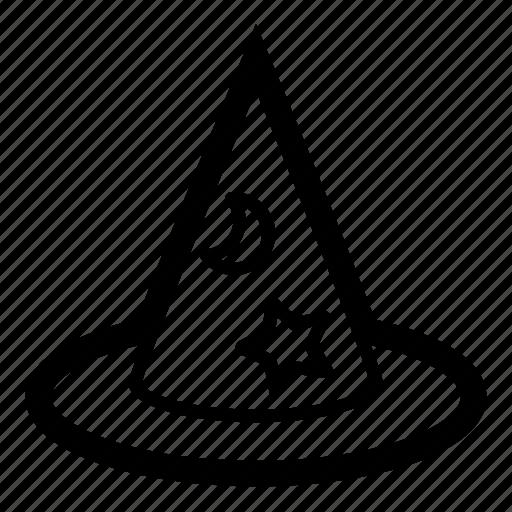 astrologer, cap, hat, magic, magician, stargazer, wizard icon