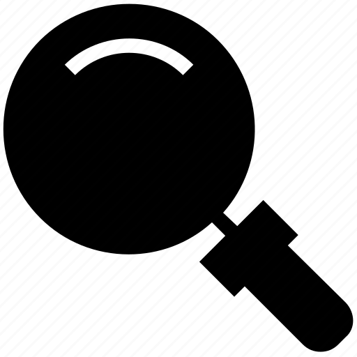 find, glass, magnifier, magnifying glass, search, zoom icon
