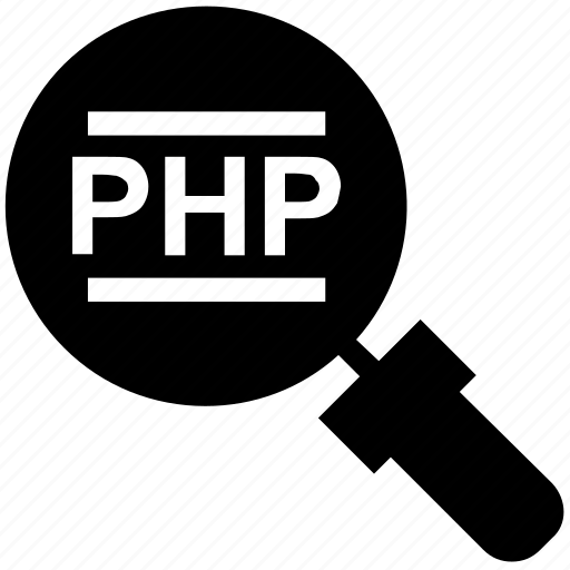 find, glass, magnifier, magnifying glass, php, search, zoom icon