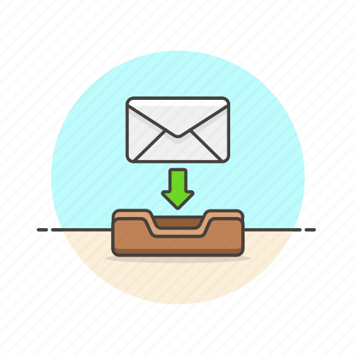 archive, delivery, download, email, envelope, keep, letter, save icon