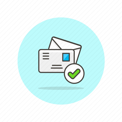 approve, check, delivery, email, envelope, letter, sent icon