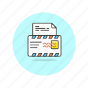 content, delivery, email, envelope, letter, paper, read icon