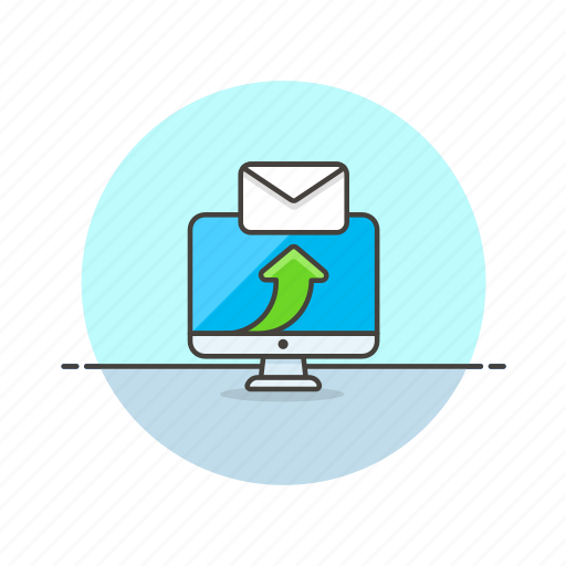 apple, arrow, delievery, email, envelope, imac, reply, send icon