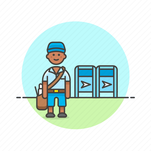 box, delivery, envelope, letter, mail, postman, profession icon