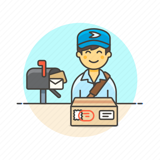 box, delivery, envelope, letter, mail, package, postman, profession icon