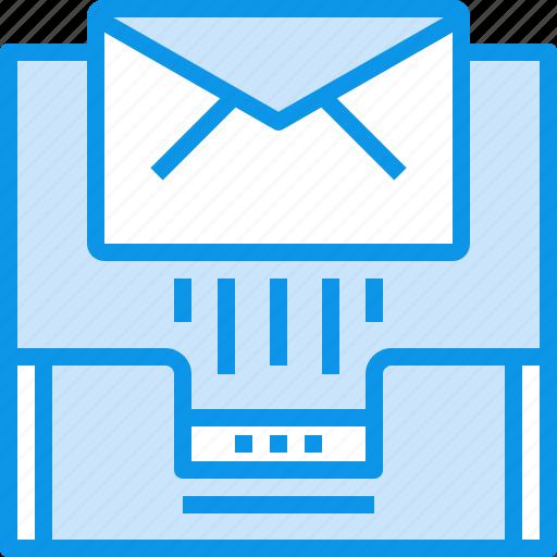 box, communication, document, inbox, letter, mail, message, send icon