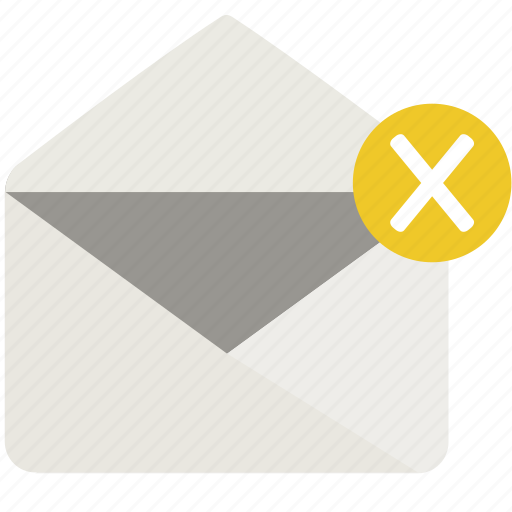 delete, letter, mail icon
