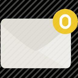 empty, envelope, inbox, mail icon
