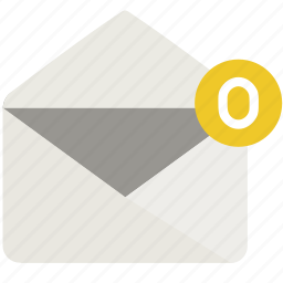 empty, envelope, mail, open icon