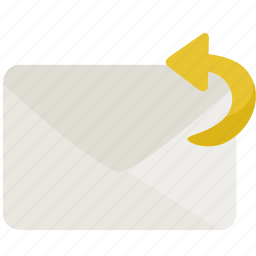 envelope, letter, mail, reply, send icon