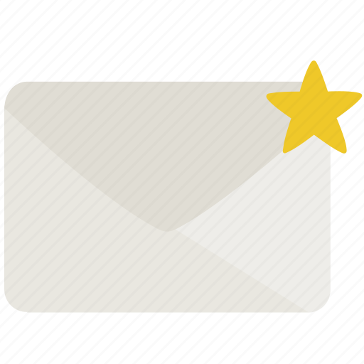 envelope, mail, star, starred icon