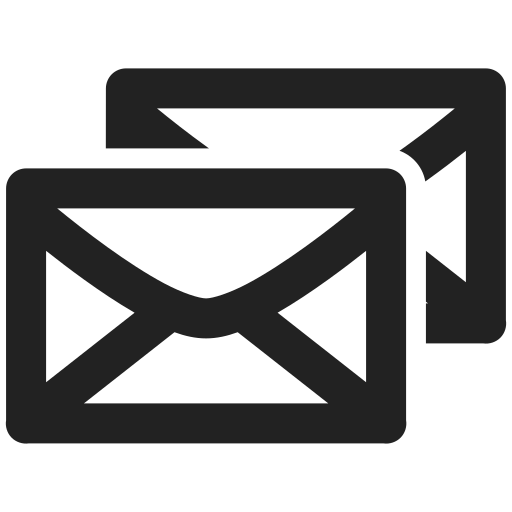 communication, double, email, letter, message icon