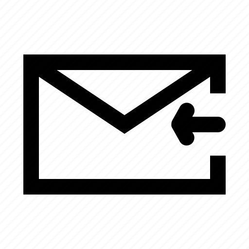 inbox, mail, message, message received icon
