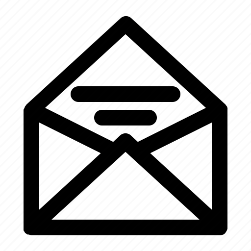 inbox, mail, message, open icon