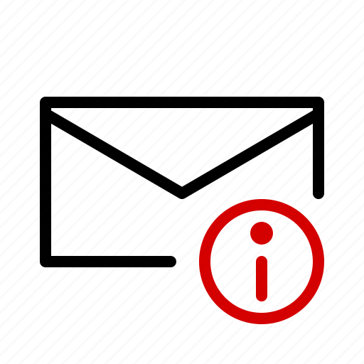 information, mail, message, notification icon
