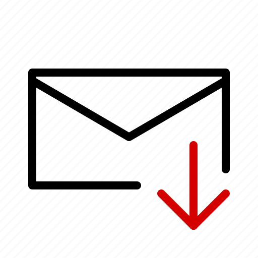 download, mail, message, notification, receive icon