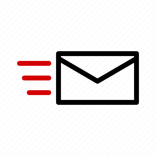 mail, message, sending icon