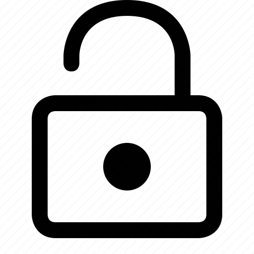 lock, open, secure, security icon