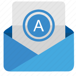 a, email, letter, mail, message icon