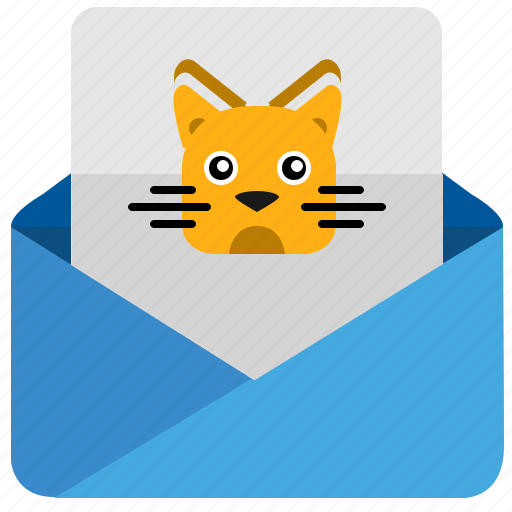 cat, email, kitty, letter, mail, message icon