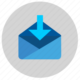 email, income, letter, mail, message, service icon
