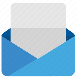 email, empty, letter, mail, open, text icon