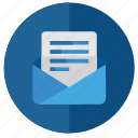 email, info, letter, mail, message, open, text icon