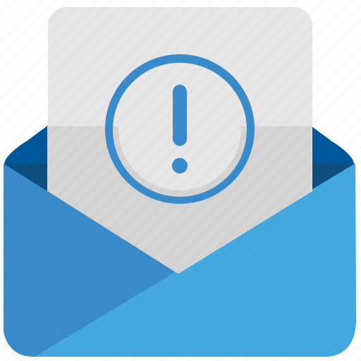 attention, email, error, letter, mail, message, warning icon