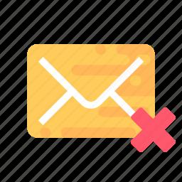 delete, mail, message, unsent icon