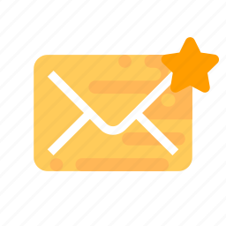 important, mail, message, star icon