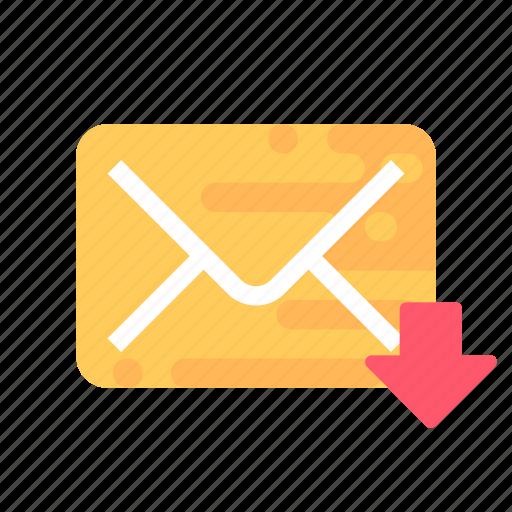 inbox, mail, message icon